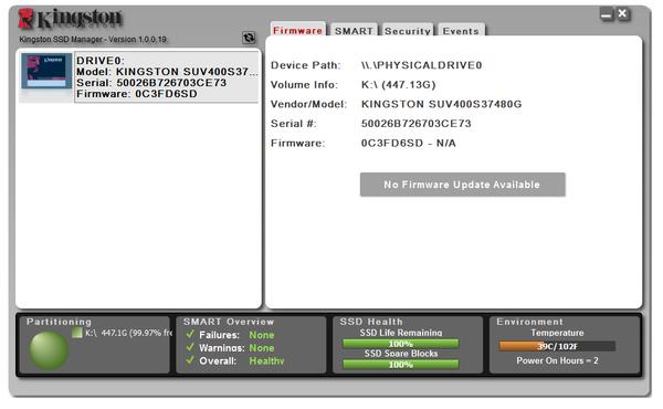 Kingston Firmware Update Utility