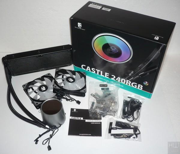 013-deepcool-castle-240-rgb-aio-foto-confezione-contenuto-completo
