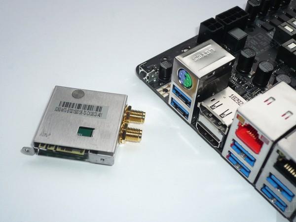 073-asrock-z390-taichi-ultimate-foto-scheda-particolare-modulo-wireless